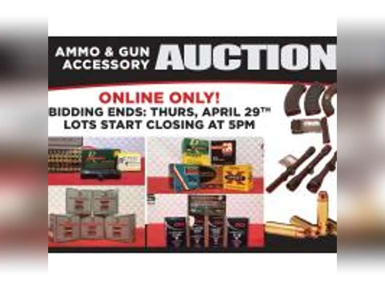 AMMO AND GUN ACCESSORIES ONLINE ONLY AUCTION