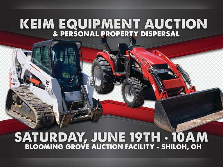 KEIM EQUIPMENT and PERSONAL PROPERTY DISPERSAL