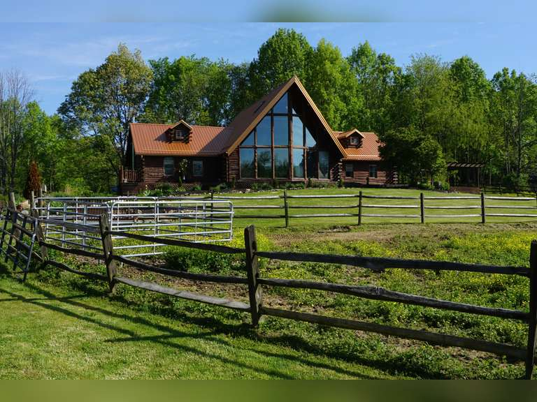 Absolute Secluded Log Home and Property Auction