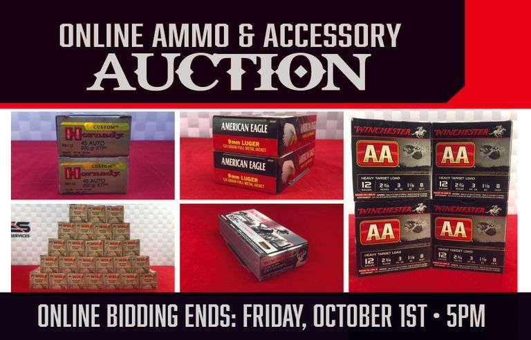 ONLINE ONLY AMMO AND ACCESSORY AUCTION