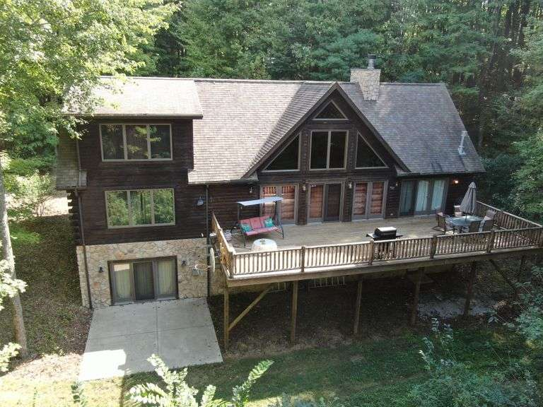 GREAT SECLUDED LOG HOME and LAND AUCTION