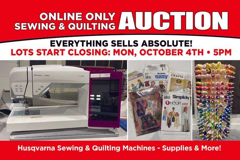 Absolute Online Only Sewing & Quilting Auction