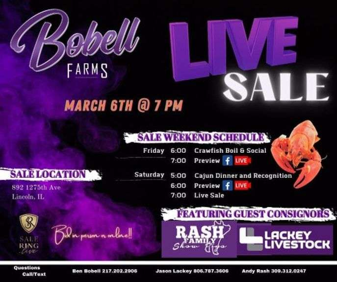 Bobell Farms Live Sale