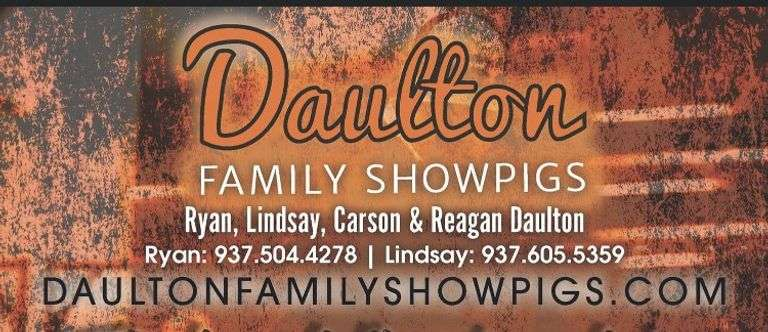 Daulton Family Showpigs Live Sale
