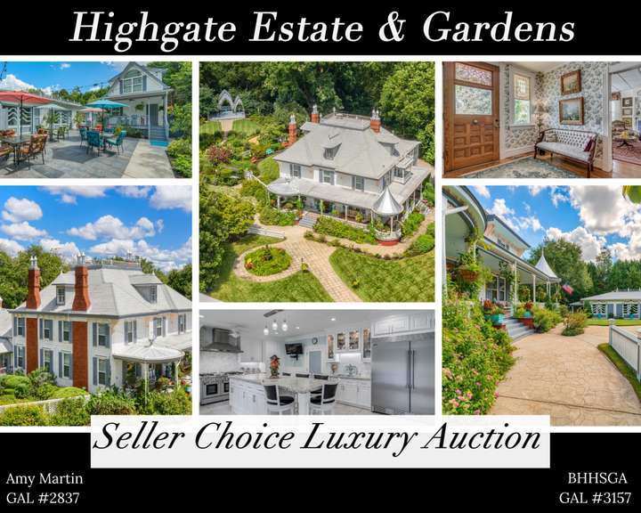 Luxury Auction of Highgate Estate & Gardens on 2.36 acres near Lake Oconee