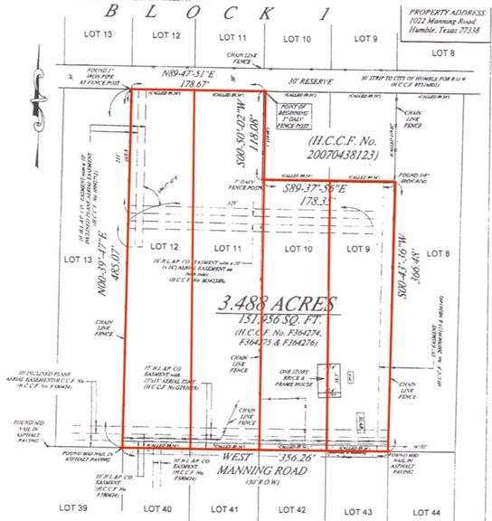 3.5+/- acres in Humble - 4 Parcels