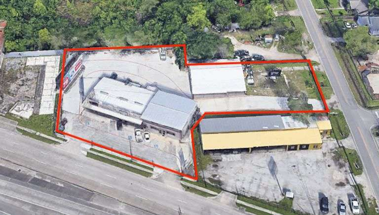 Commercial Property in Houston with Billboard