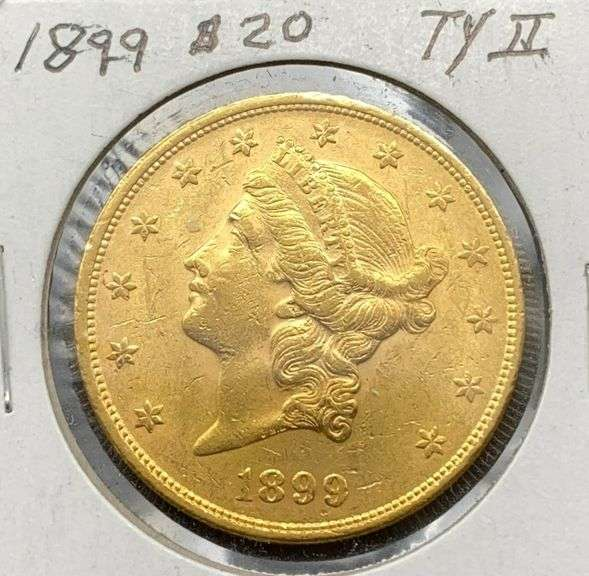 1899 Coronet Head Double Eagle $20 Gold Coin