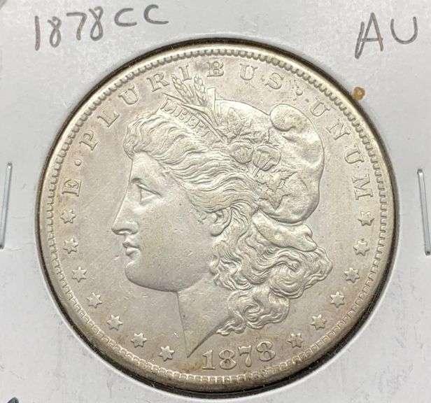 1878 CC AU Morgan Silver Dollar