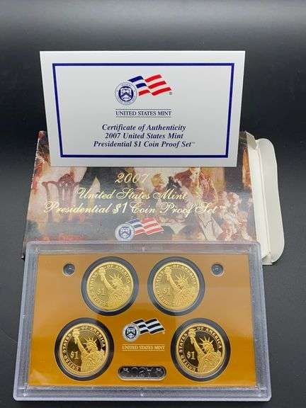 2007 U.S. Mint Presidential $1 Coin Proof Set w/ Certificate of Authenticity