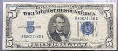 Series of 1934 D $5 Silver Certificate