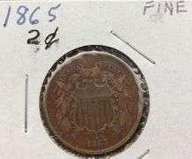 1865 Fine Two Cent Coin
