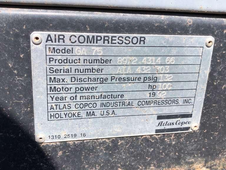 Used Atlas Copo Air Compressor