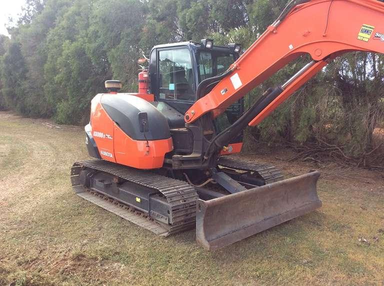 2016 Kubota KX080-3 8T Excavator Inc Buckets & Rubber Pads