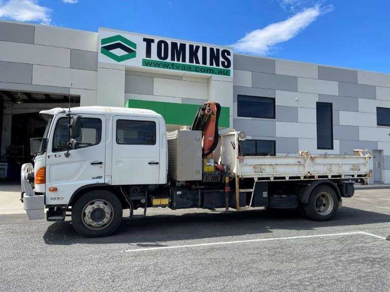 2009 Hino 500 Series FG 1527 Drop Side Truck Inc Crane