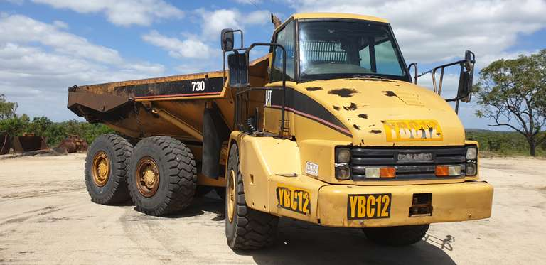 "ONLINE AUCTION - 2 x Caterpillar 725 Trucks ""SOLD"""