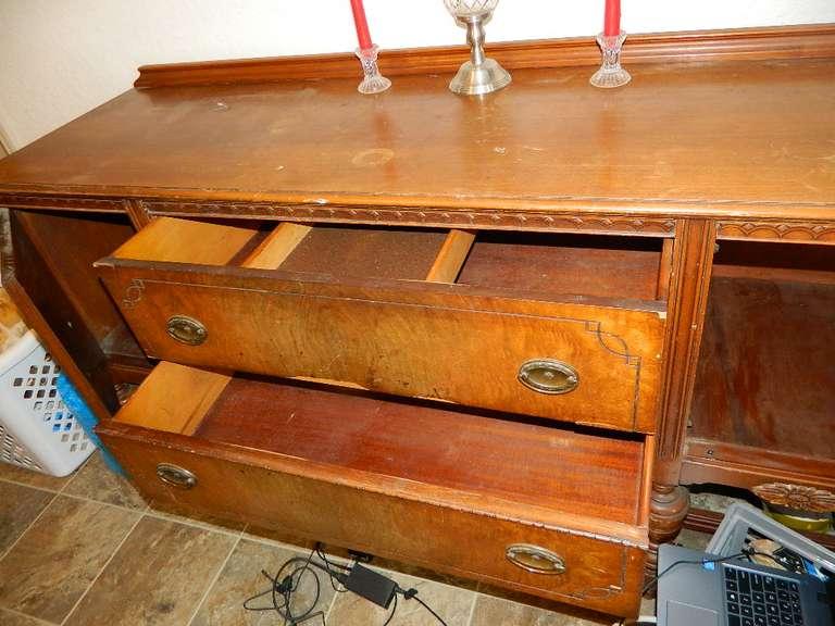 2 Drawer, 2 Door Sideboard - Movable Shelf in Top Drawer