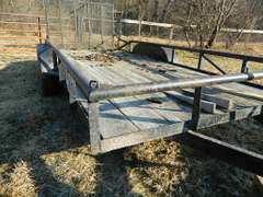 """Tandem Flat Bed Trailer with Ramp Gate   80""""W x 196""""L"""