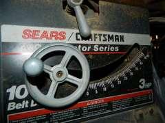 "Sears/Craftsman Table Saw  10"" Belt Drive, 3 HP"