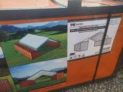 30 ft by 40 ft container roof shelter